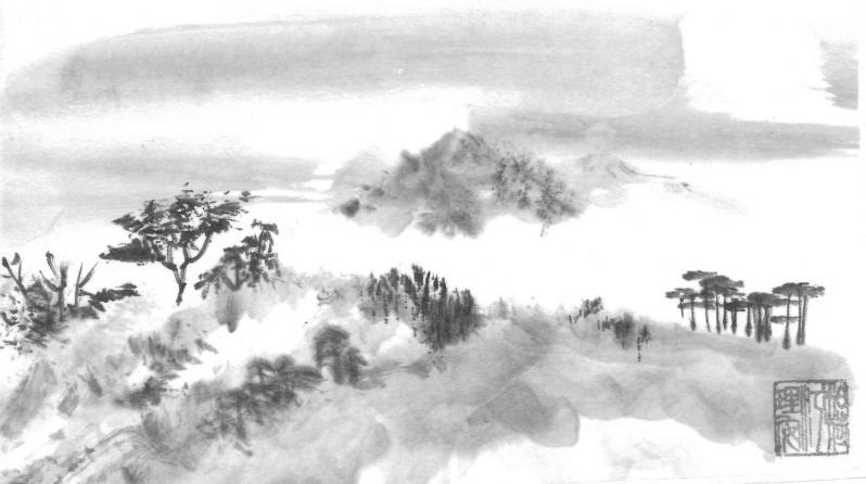 14 paysage illustrant la peinture xie yi 1