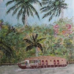 Backwaters du Kerala Inde