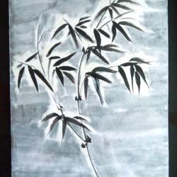 Bambou sous la neige Corinne Howlett