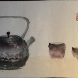 C.Battin-On boit le thé pour oublier le bruit du monde