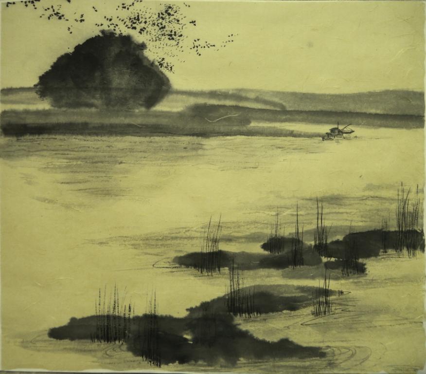 C.Howlett-Vol des étouneaux au dessus de la Grande Brière