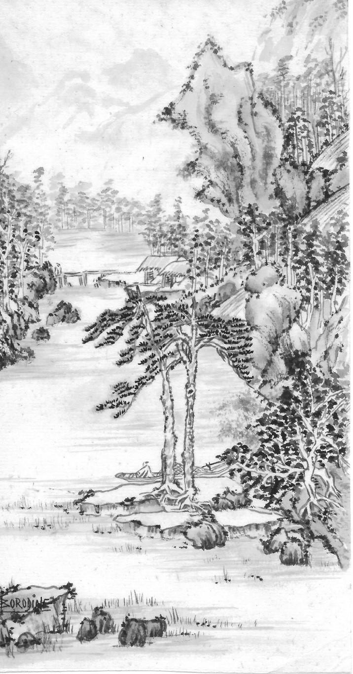 Deux personnages dans le paysage