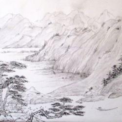 Extrait des montagnes fuchan muse e national de tapei