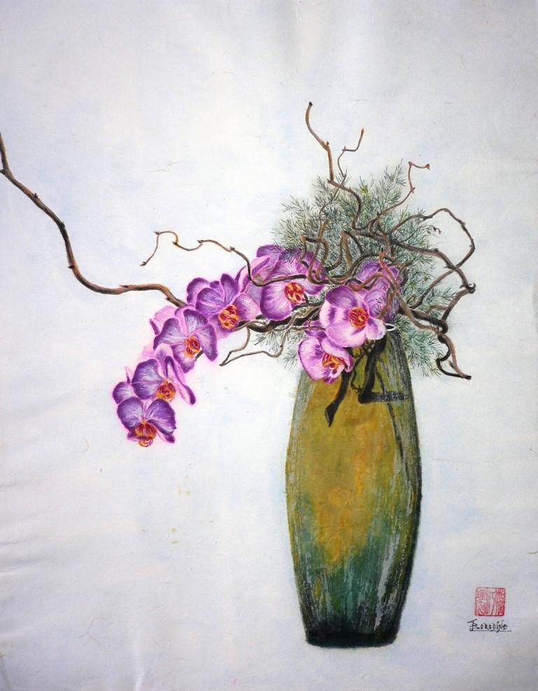 Ikebana les orchidees
