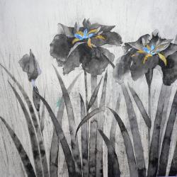 Iris peinture : technique académique