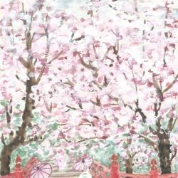 Journée des prunus en fleurs au Japon
