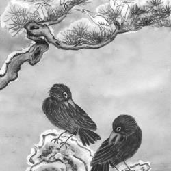 Les deux corbeaux