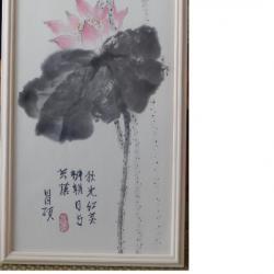 Libellule bleue sur le lotus Colette Battin