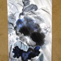 Lotus bleus sous la tempête