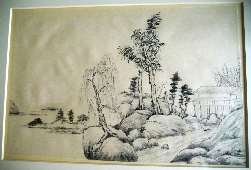 Maison chinoise au bord de la riviere corinne howlett