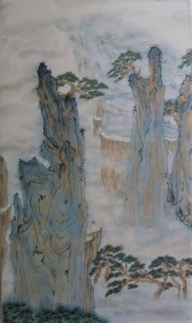 Méditation montagnes chinoises