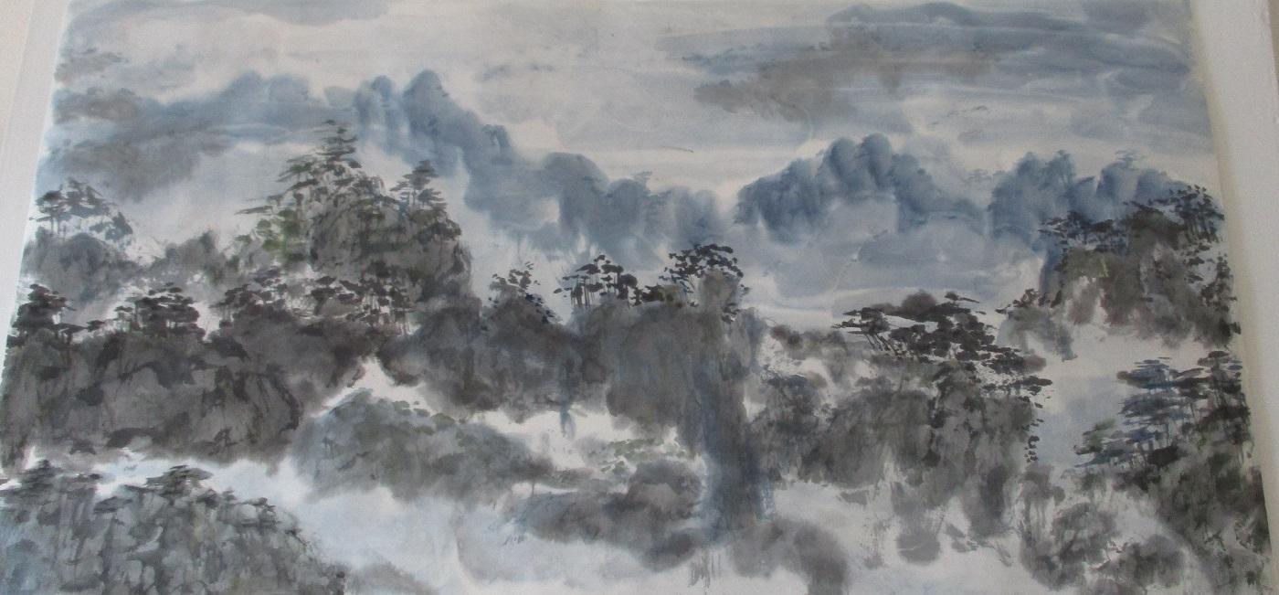 Montagnes bleues en xie yi