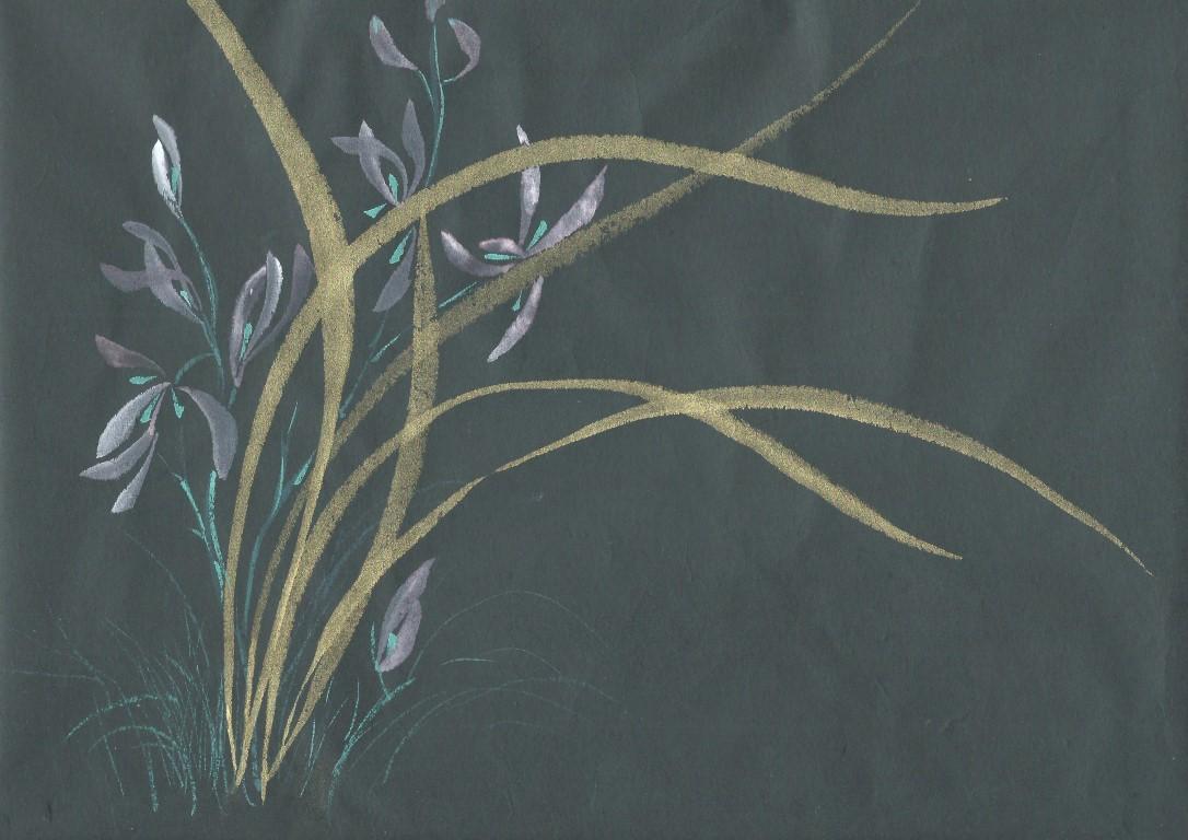 Orchidée feuilles d'or