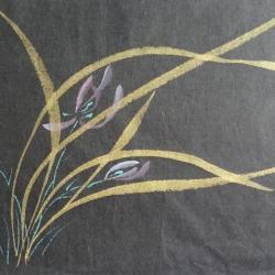 Orchidées Or papier Hanji 1