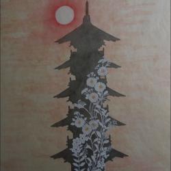 Pagode japonaise école Rinpa