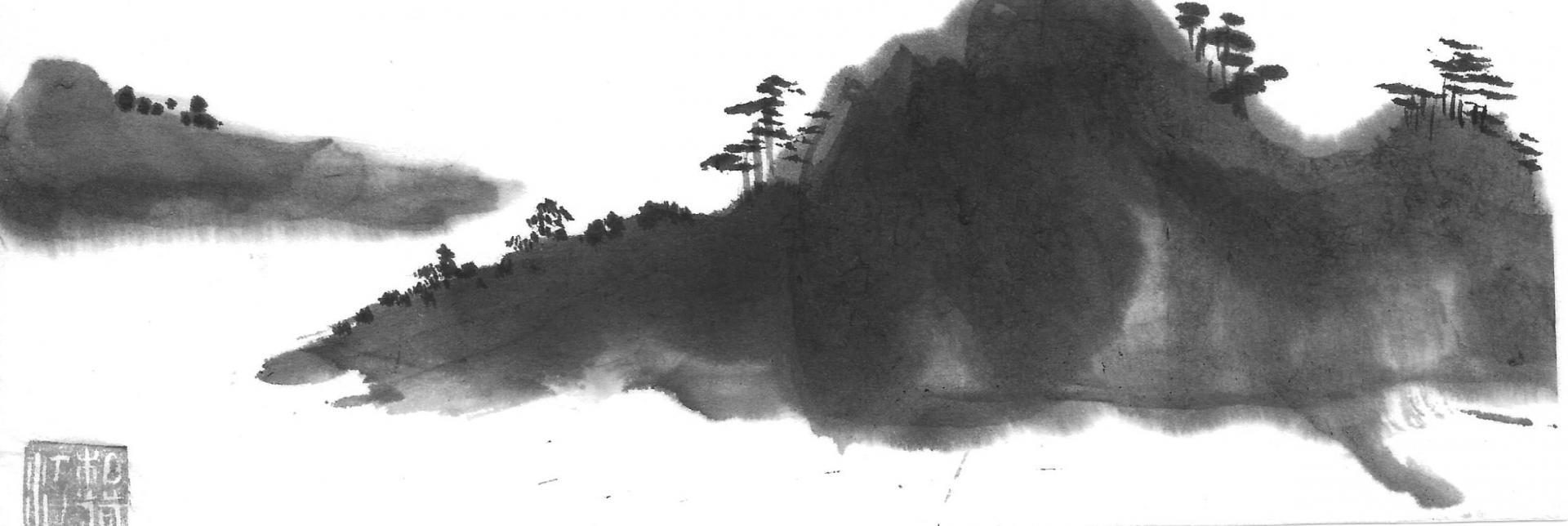Paysage fusant au noir velours puissant