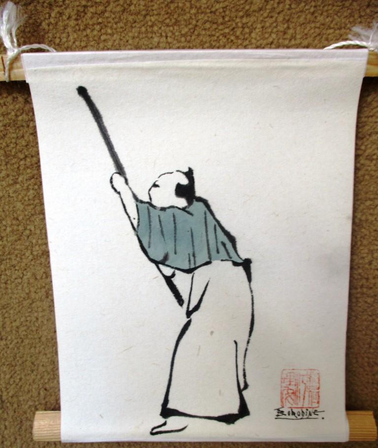 Personnage d'après Hokusai