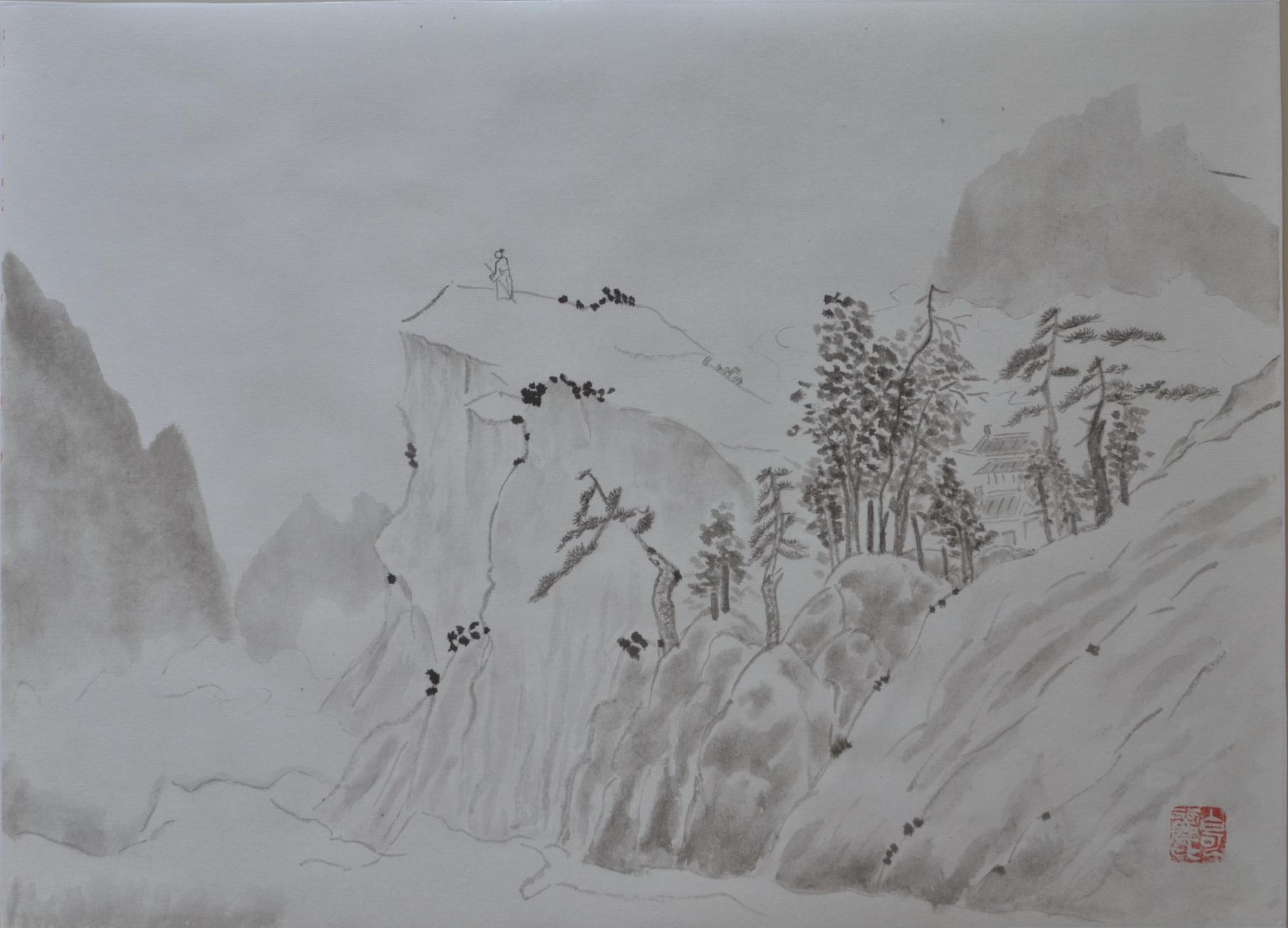 Poète en haut de la montagne Colette Battin