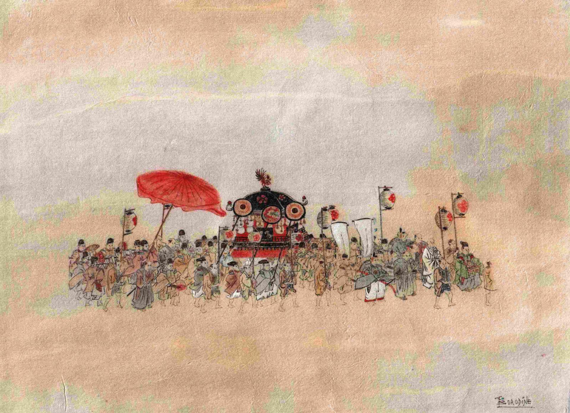 Procession japonaise