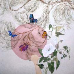 Uchiwa et papillons
