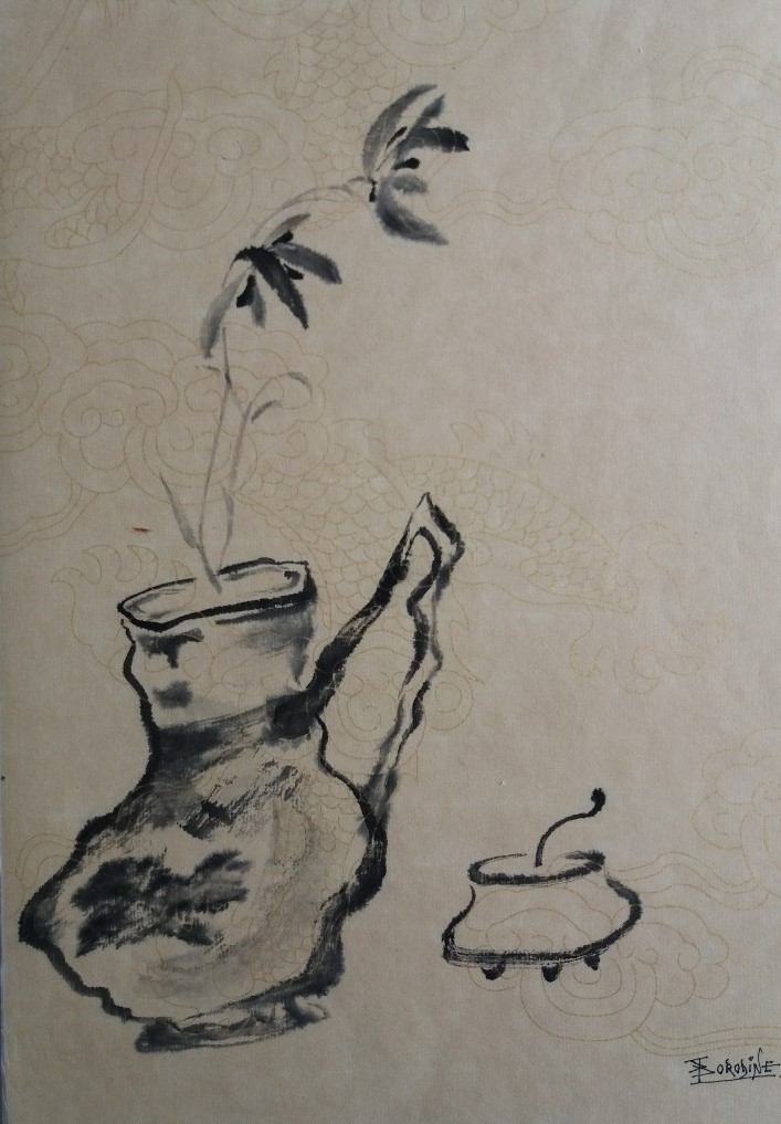 Vase kintsugi wabi sabi Japon