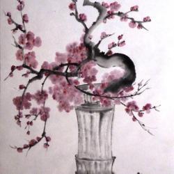 Prunus et Libellule